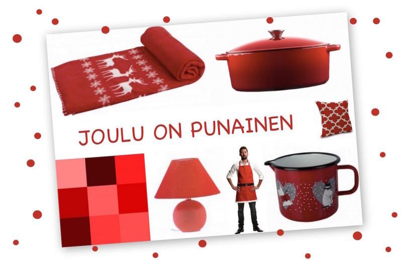 punainen joulu sisustus koti bellapuoti